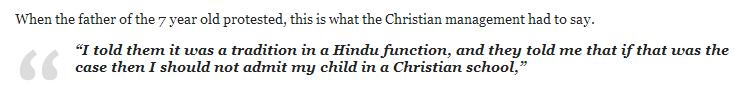 Hindu Children Discriminated