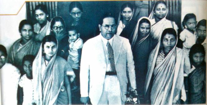 Ambedkar ji with samaj