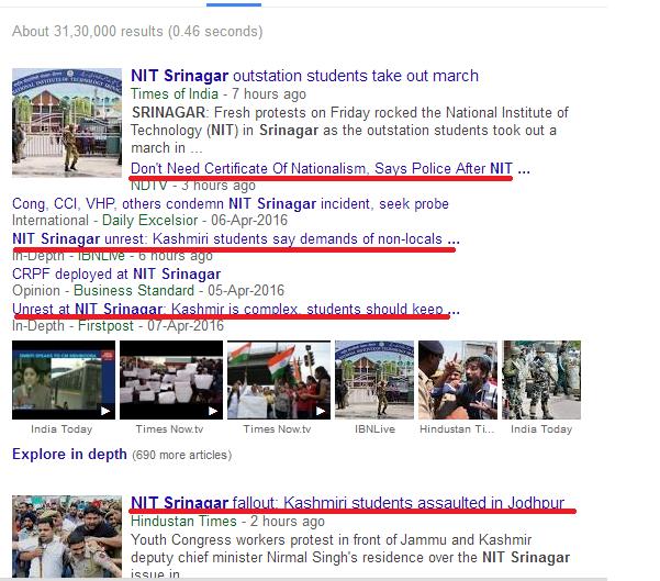 Media Coverage of #NITSrinagar