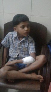 7-year old boy attacked