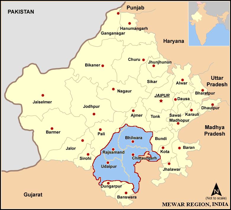 Map of Mewar