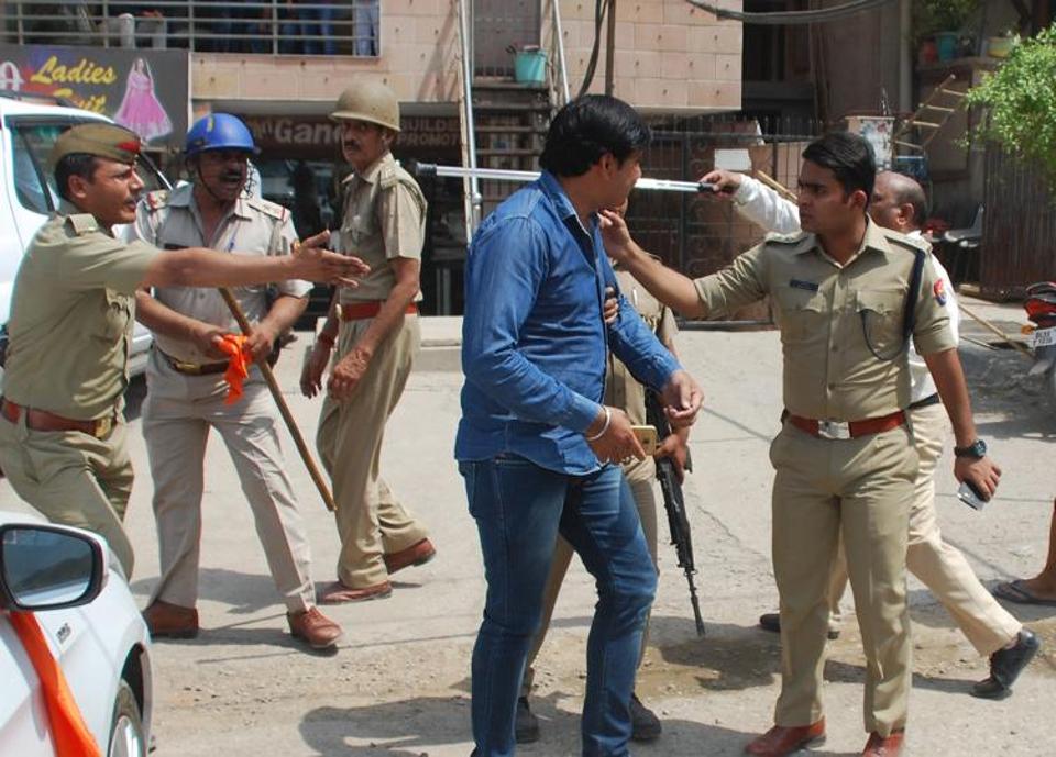 Hindu Raksha Dal attacked by police