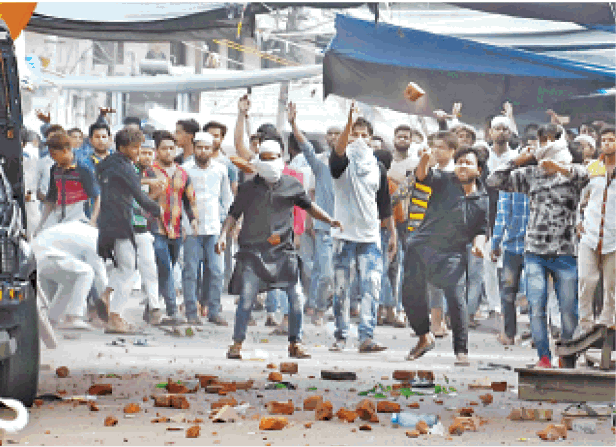 Aligarh Muslims riot Attack Police Dalit Woman