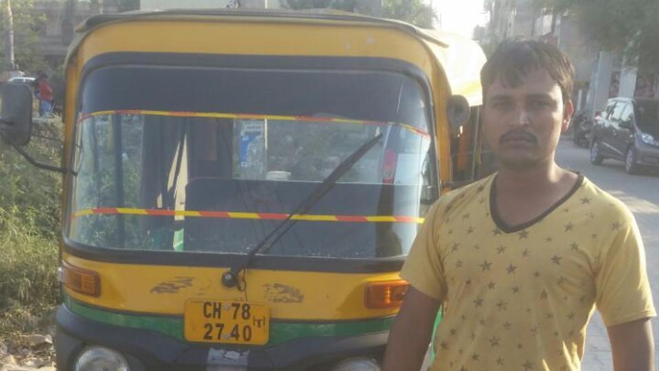Muslim Autorickshaw driver