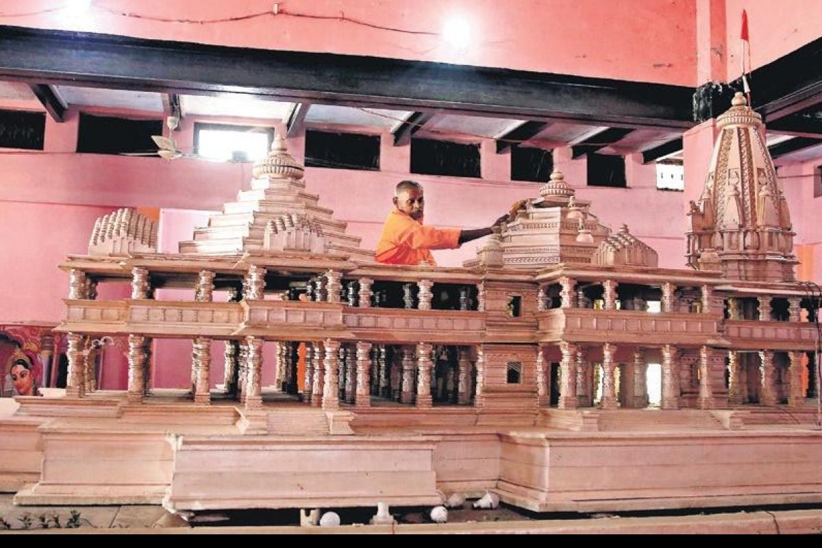 Proposed design of the Ram Mandir