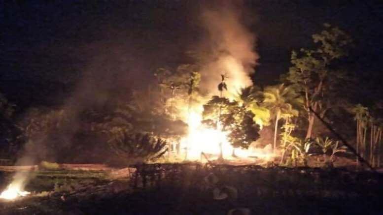 Houses burnt on Assam Mizoram border