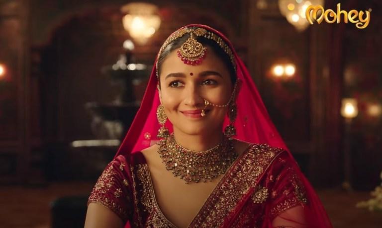 Alia Bhatt in Manyavar commercial